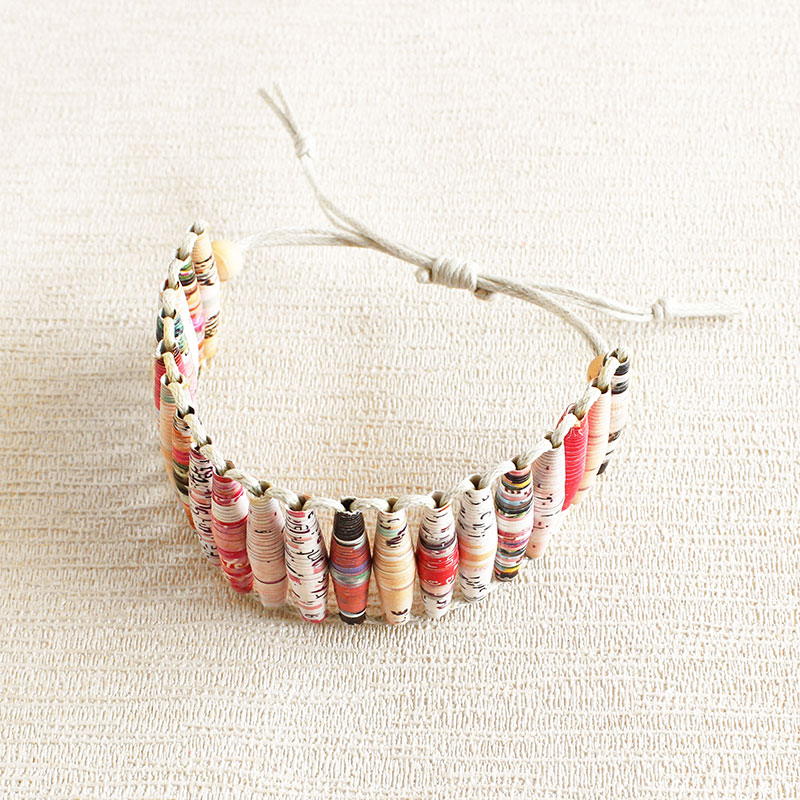 creative jewelry made from magazine paper