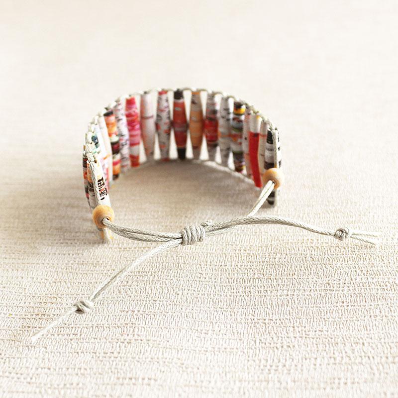 funky magazine bracelet artist gift