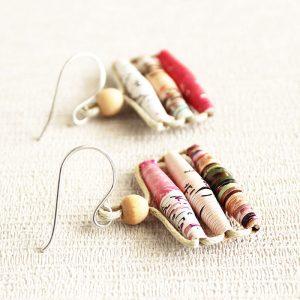 Art Magazine Earrings Gift for Art Lover