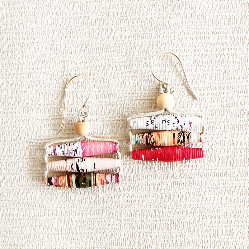 Ethical Jewelry Paper Earrings