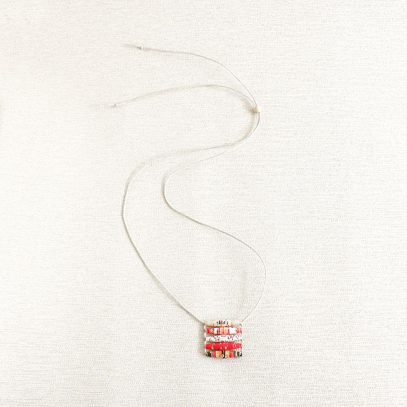 Art Magazine Necklace Art Magazine Necklace Boho Jewelry Funky Necklace