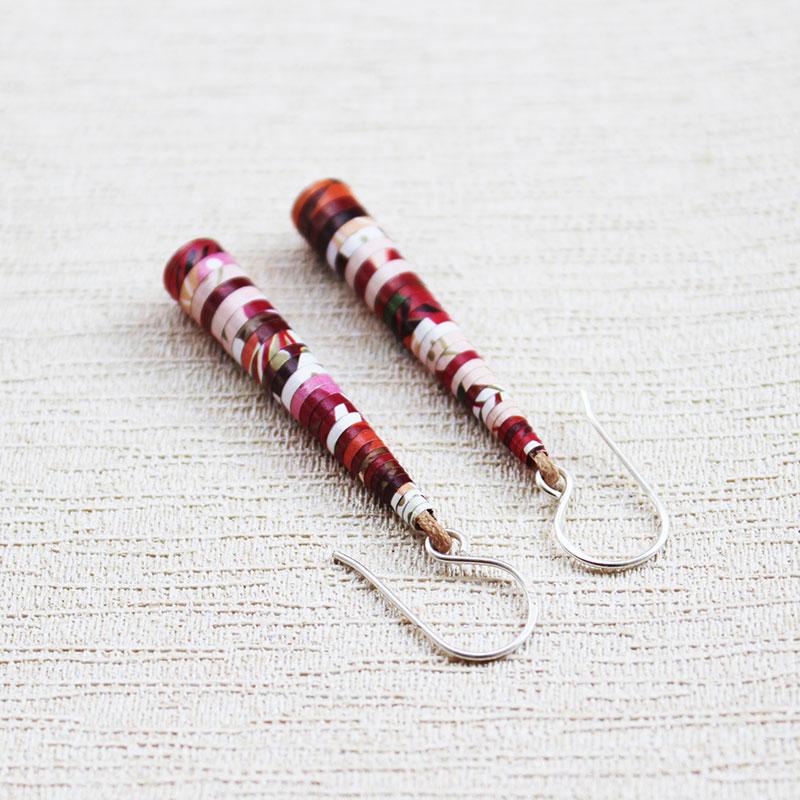 Long Boho Style Floral dangle drop Earrings
