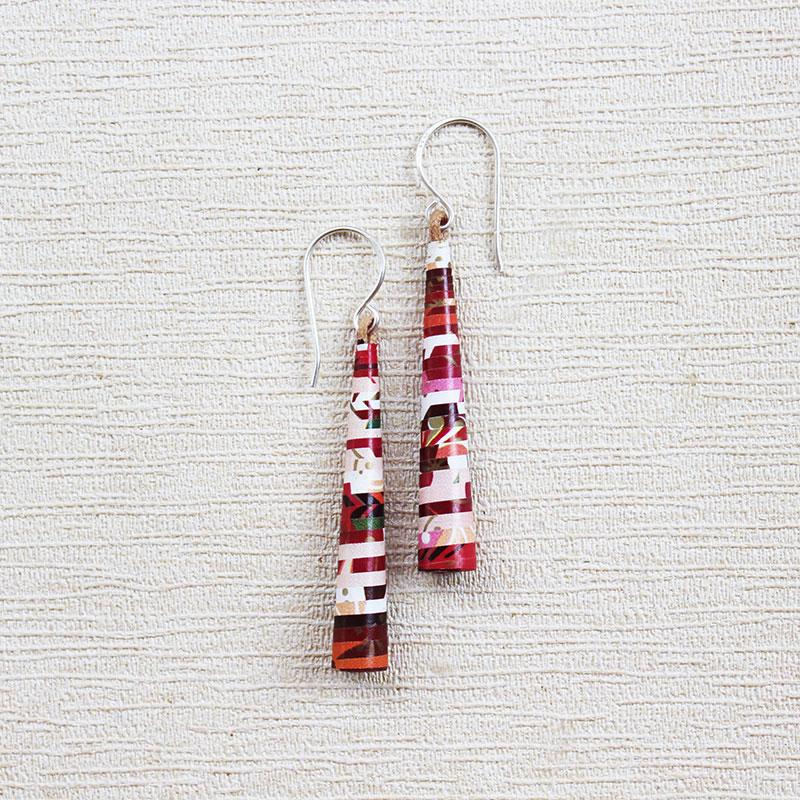 Long Boho Style Floral Earrings