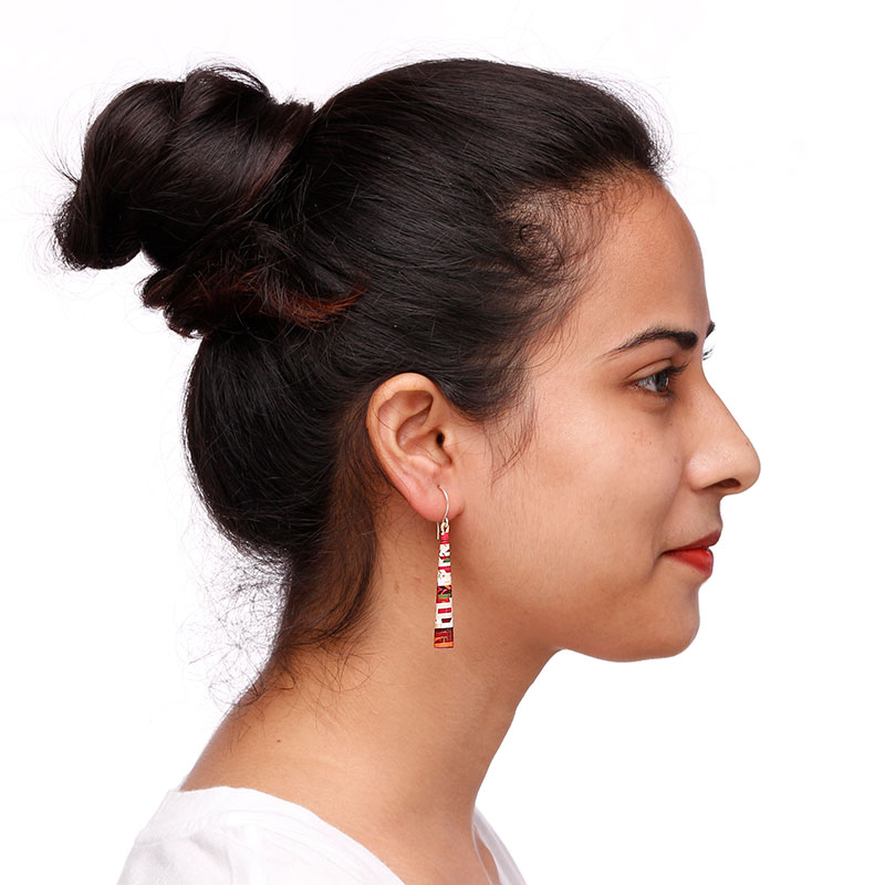 Long Boho Style cherry blossom Earrings