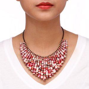 chunky necklace boho statement jewelry