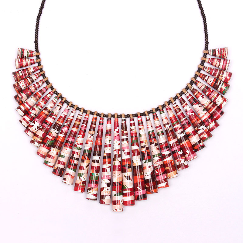 cherry blossom necklace boho statement jewelry
