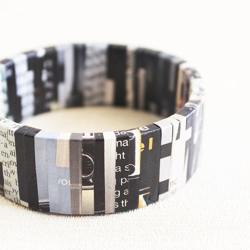 classic newspaper bracelet journalist gift