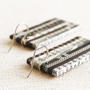 classic newspaper earrings fair trade jewelry