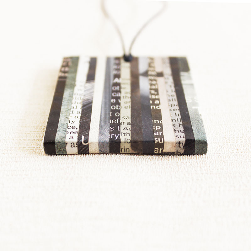 newspaper necklace upcycled gift for professor