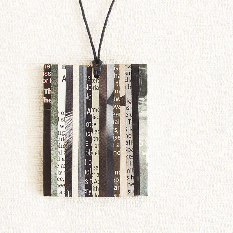 newspaper necklace upcycled jewelry