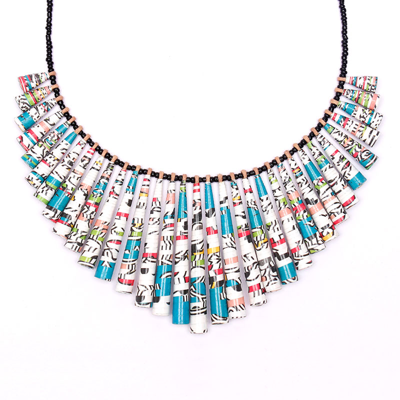 fun statement bib necklace bold chunky