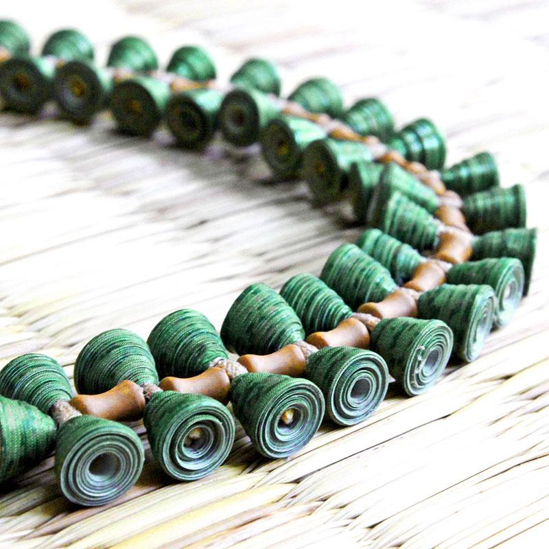 Nature Inspired Organic Boho Green Leaf Jewelry