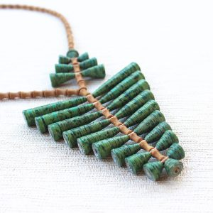 Nature Statement Green Leaf Pendant Necklace