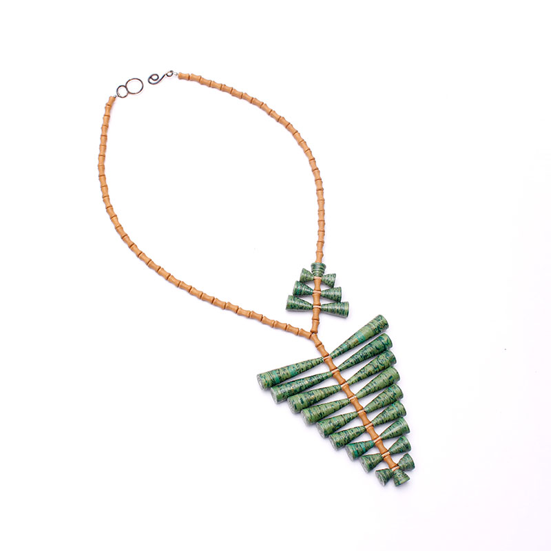 statement leaf pendant necklace nature lover gift