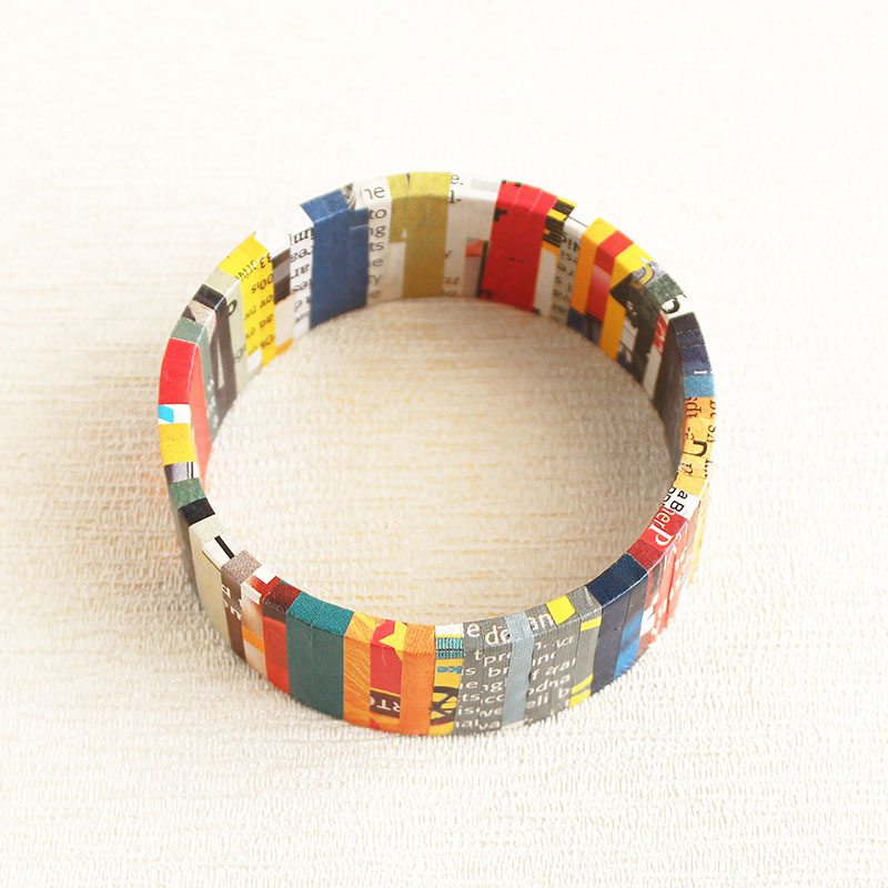 sustainable gift for her made from newspaper