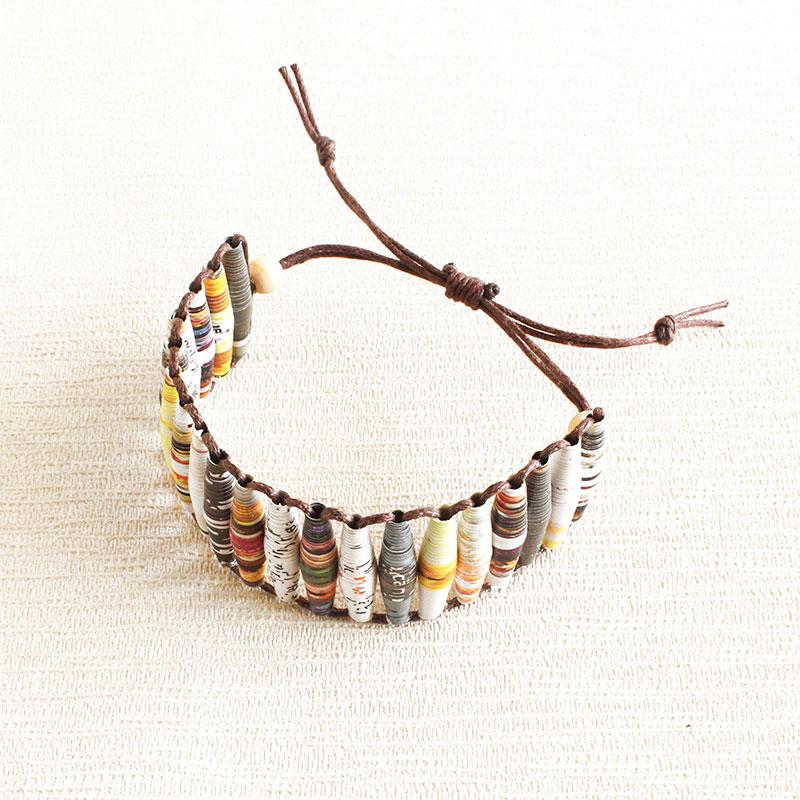 Paper bead jewelry from magazine beads