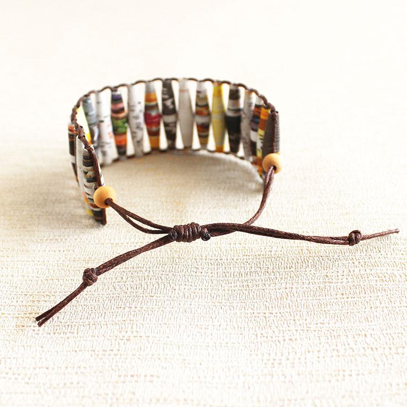 Food Magazine Bracelet Uncommon Paper Bead Jewelry