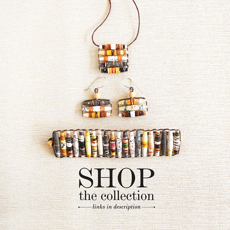 upcycled jewelry from magazine