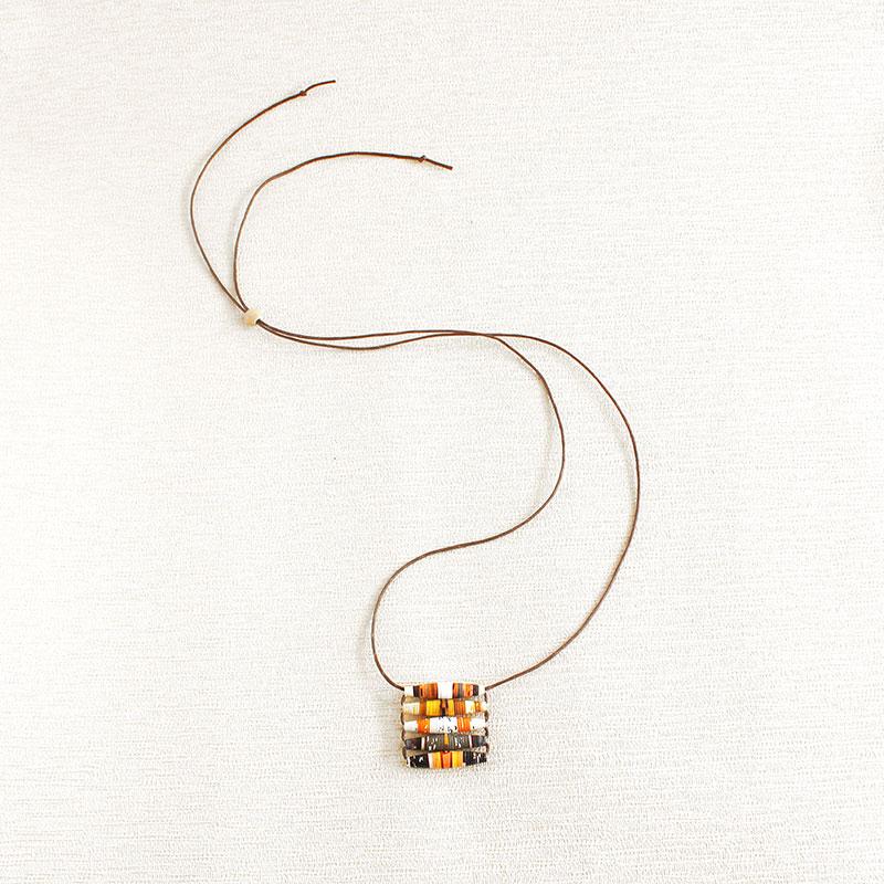 Food Magazine Necklace Found Object Jewelry