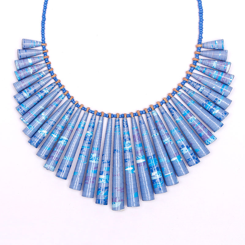 forget me not necklace in lilac and blue
