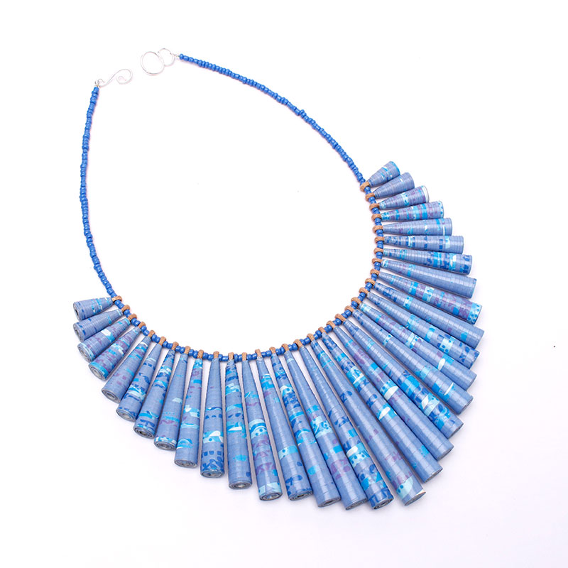 chunky beaded lilac statement jewelry