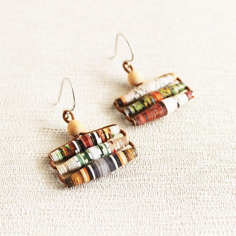 Garden Magazine Earrings Repurposed Jewelry