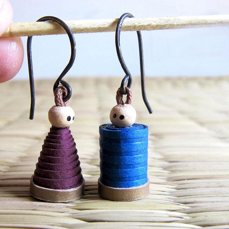 cute boy girl dangle earrings quirky jewelry
