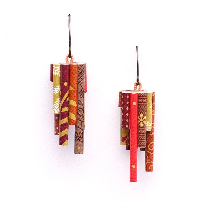 Asymmetric Big Modern Ethnic Indian Jhumka Earrings