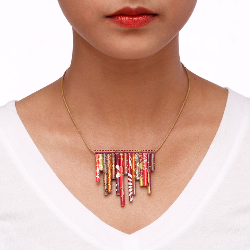 India necklace Asymmetric Modern Jewelry Collection