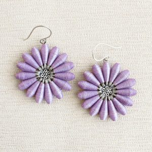 Dreamy Lilac Daisy Earrings