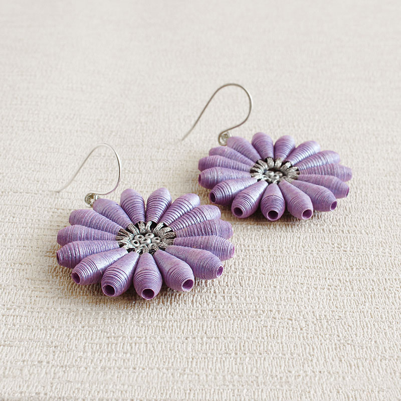 earrings lookora jewelry fine flower daisy product
