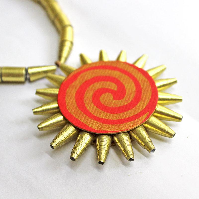 gift for yoga teacher sun necklace