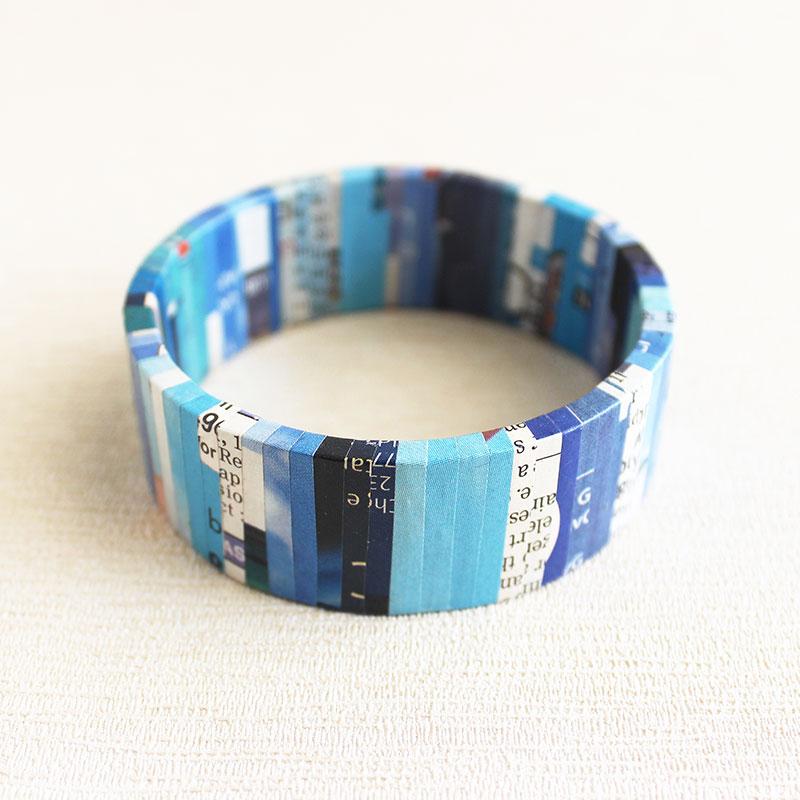 newspaper jewelry gift for bibliophile