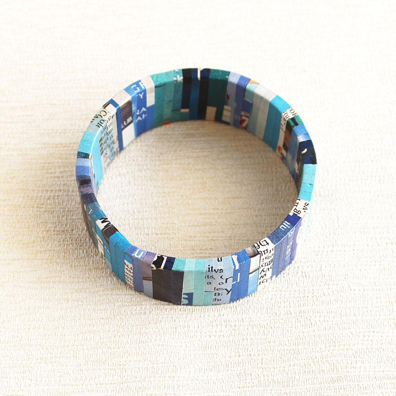 newspaper bracelet nerd geek gift