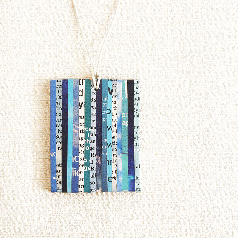 newspaper necklace literary gift for teacher