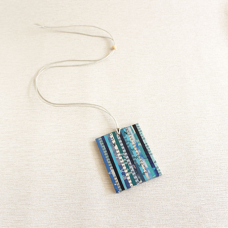newspaper necklace literary gift