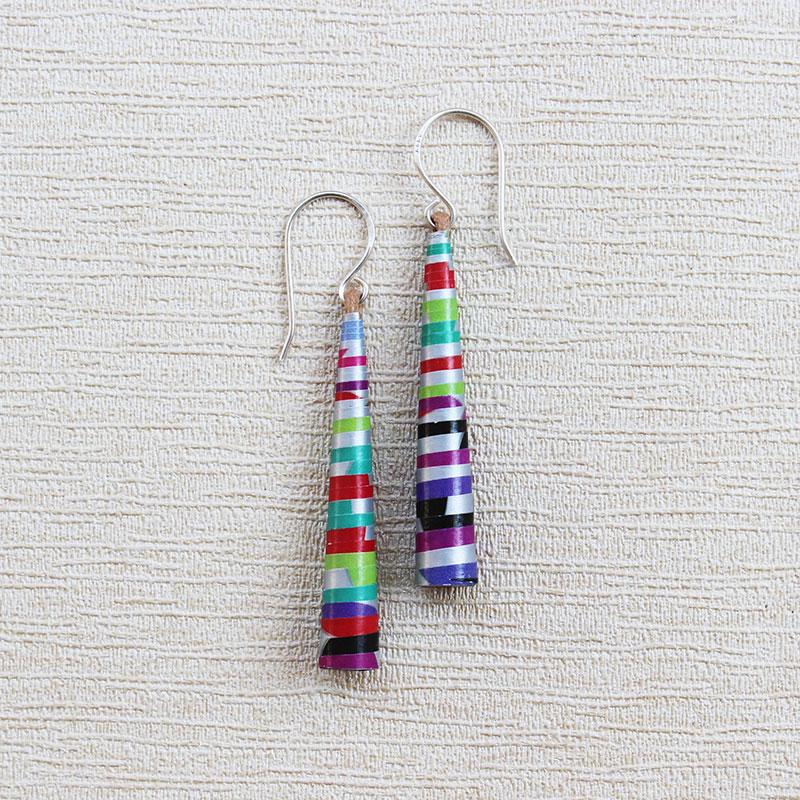 neon long drop earrings bohemian jewelry