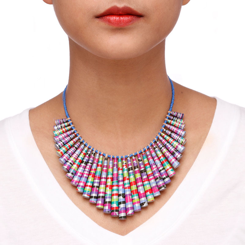 Big Bold Chunky statement neon Necklace
