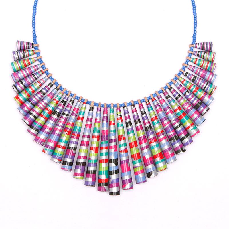 statement neon necklace big bold chunky jewelry