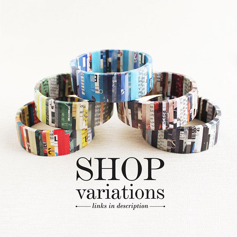 newspaper bracelets eco friendly jewelry