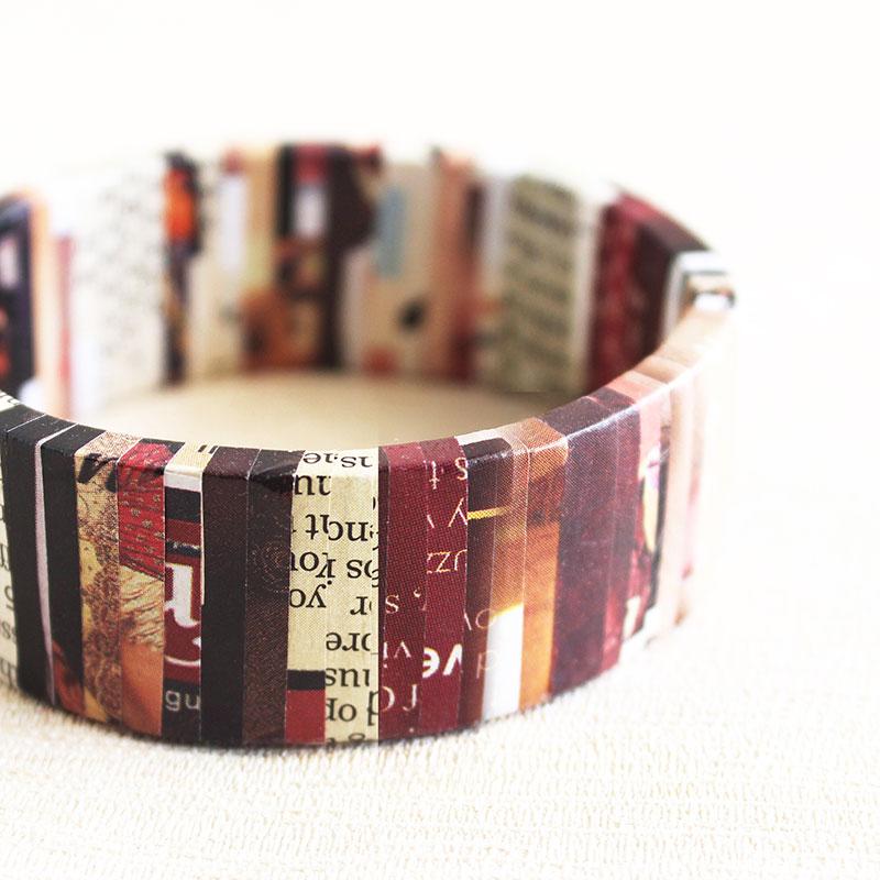 nostalgic newspaper bracelet literary jewelry gift for writer