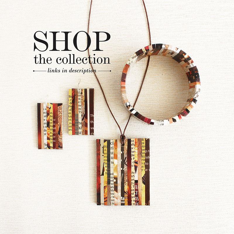 eco-friendly newspaper jewelry