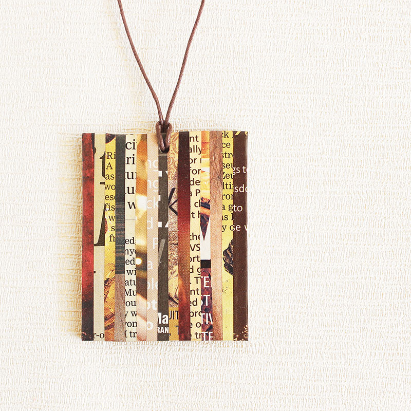 newspaper necklace sustainable jewelry
