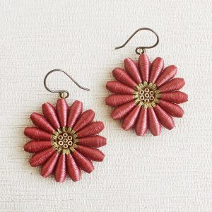 Big daisy Flower Dangle earrings