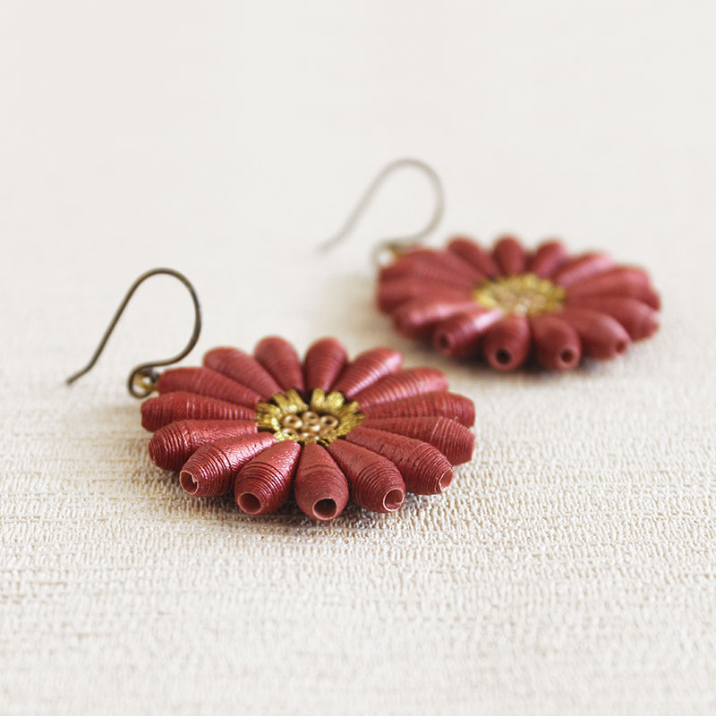 with stud cute earrings pearl daisy com dp flower amazon pink lovely