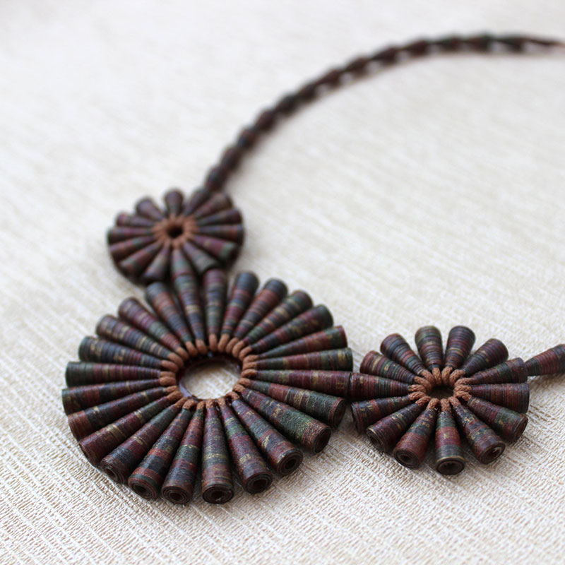 earthy brown necklace organic jewelry