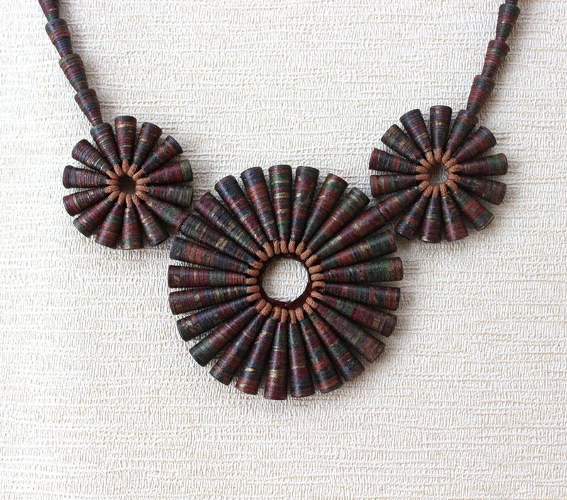 big brown bold statement jewelry necklace