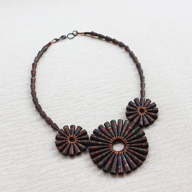 brown statement necklace