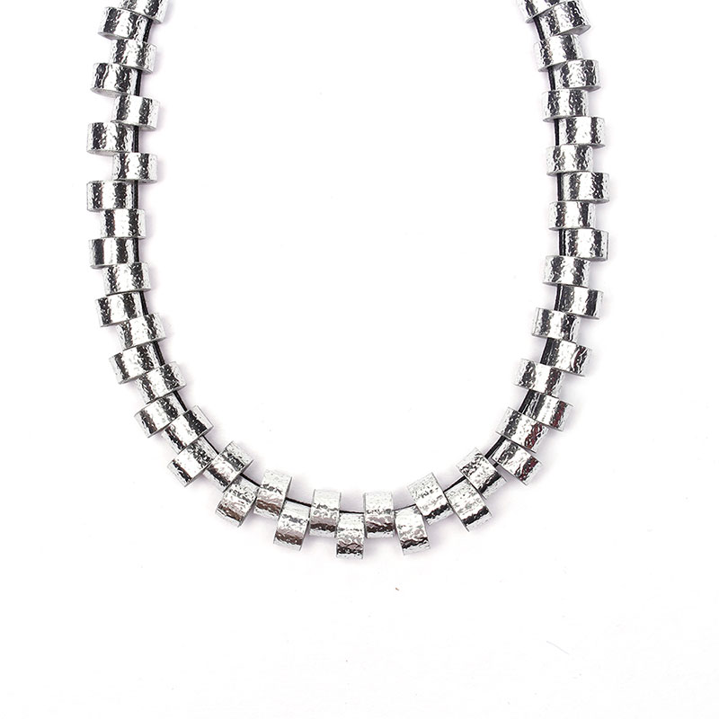 silver harmonic wave necklace