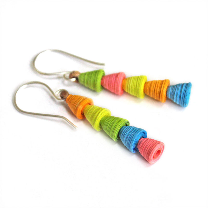 neon dangle earrings funky jewelry